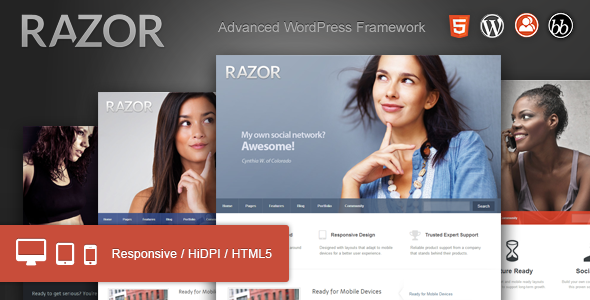 ThemeForest Razor Cutting Edge WordPress Theme 3822067