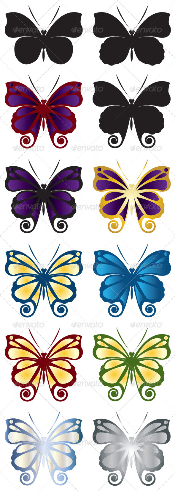 Butterfly symbol GraphicRiver - Vectors -  Characters  Animals 411511