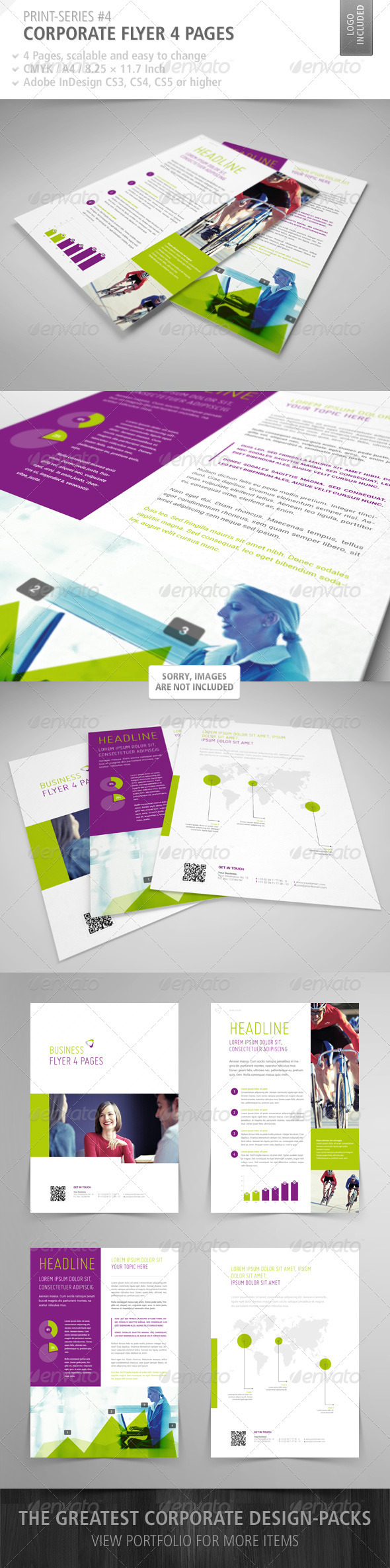 GraphicRiver Corporate Flyer 4 Pages Print-Series #4 3823555