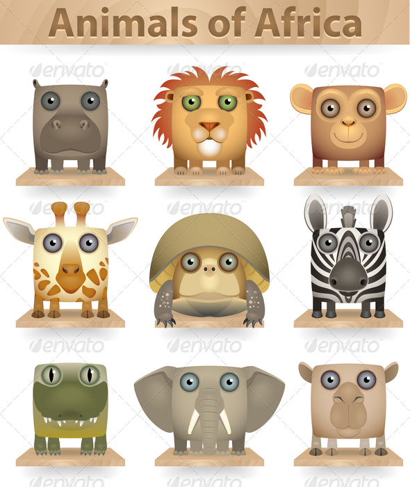 GraphicRiver Animals of Africa 3823924
