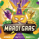 Mardi Gras Carnival Flyer Template - GraphicRiver Item for Sale