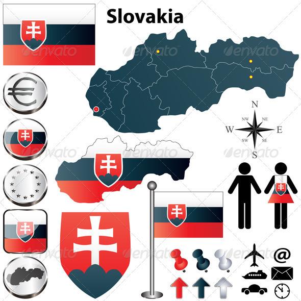 GraphicRiver Slovakia Map 3824742