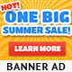 Summer Sale Banner Ad Templ-Graphicriver中文最全的素材分享平台