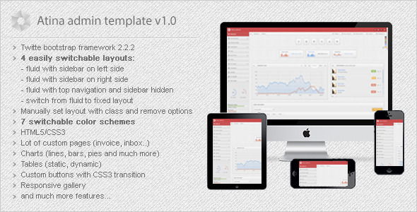 ThemeForest Atina Responsive Admin Template 3825308