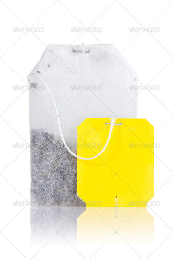PhotoDune Teabag With Yellow Label 3825336