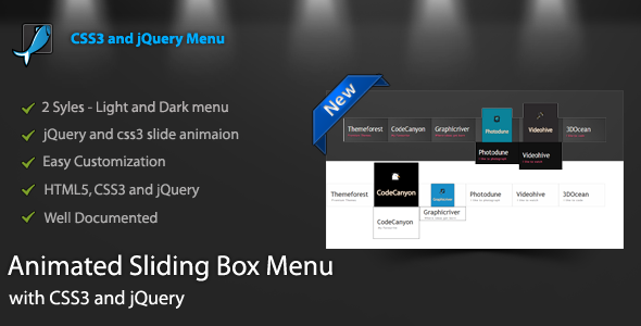 CodeCanyon Animated Sliding Box Menu 3813462
