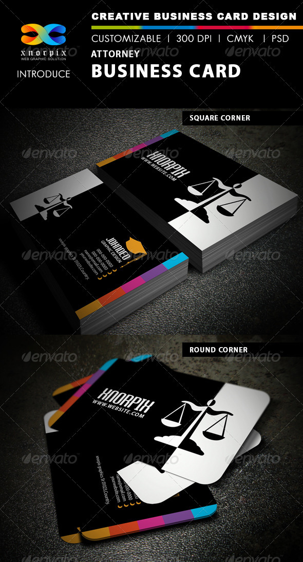 Attorney Business Card - Industry Specific Business Cards
