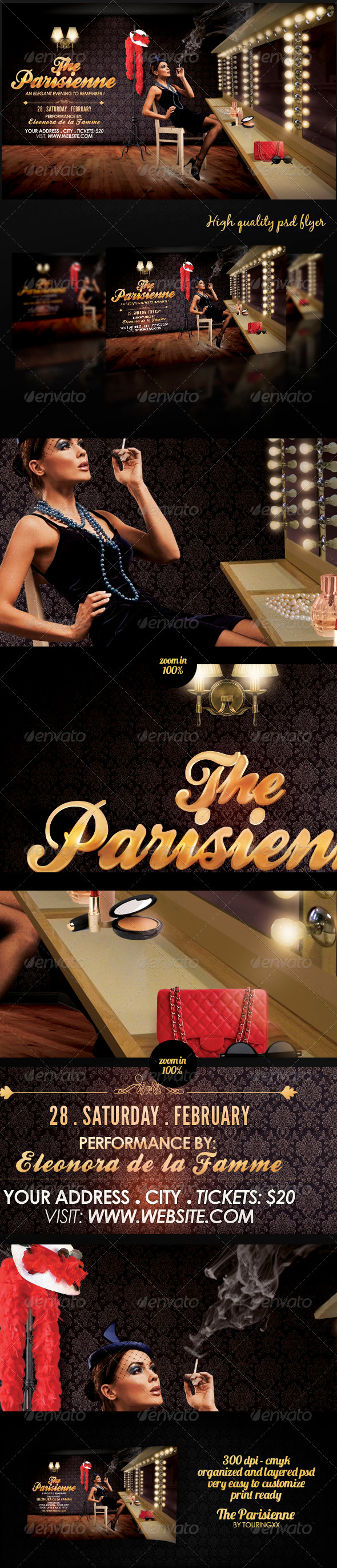 The Parisienne Flyer Template - Clubs & Parties Events
