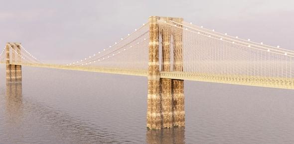 Modelo en 3D del puente de brooklyn