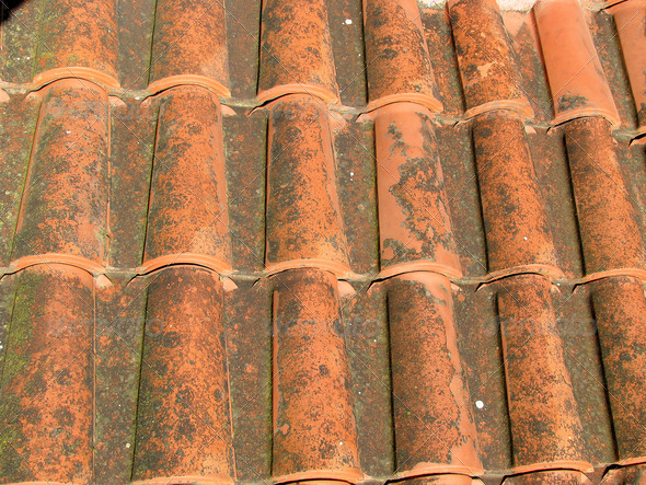 PhotoDune a red tile roof 3826693