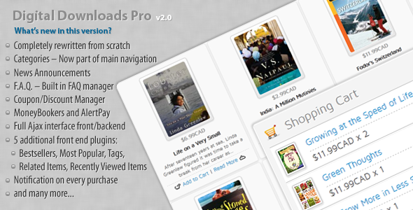 CodeCanyon - Digital Downloads Pro v2.0