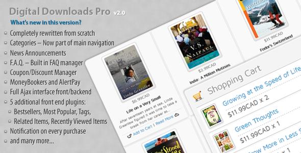 CodeCanyon - Digital Downloads Pro v2.0