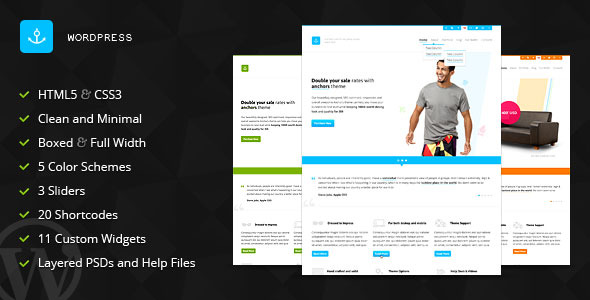 Anchors - Portfolio and Business WordPress Theme