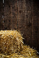 Bale of straw and wooden background - PhotoDune Item for Sale