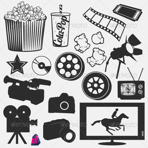 GraphicRiver Movie Silhouettes 3828400