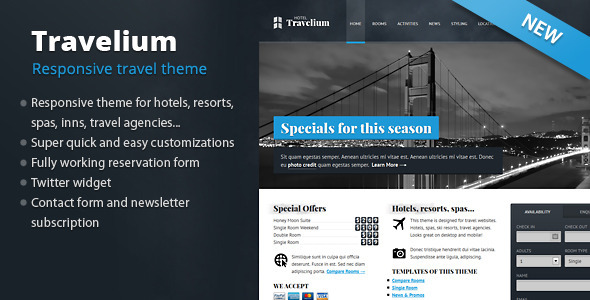 Travelium - Responsive Hotel & Travel - Travel Retail