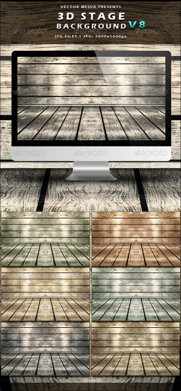 GraphicRiver 3D Stage Background Vol.8 3828453
