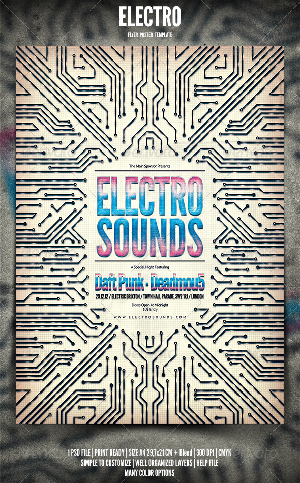 GraphicRiver Electro Flyer Poster 3666851