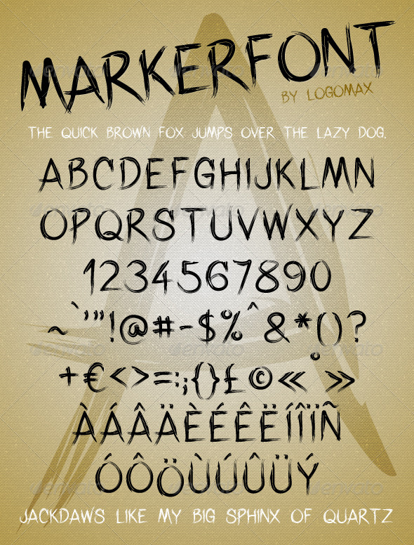 Marker Font - Hand-writing Script