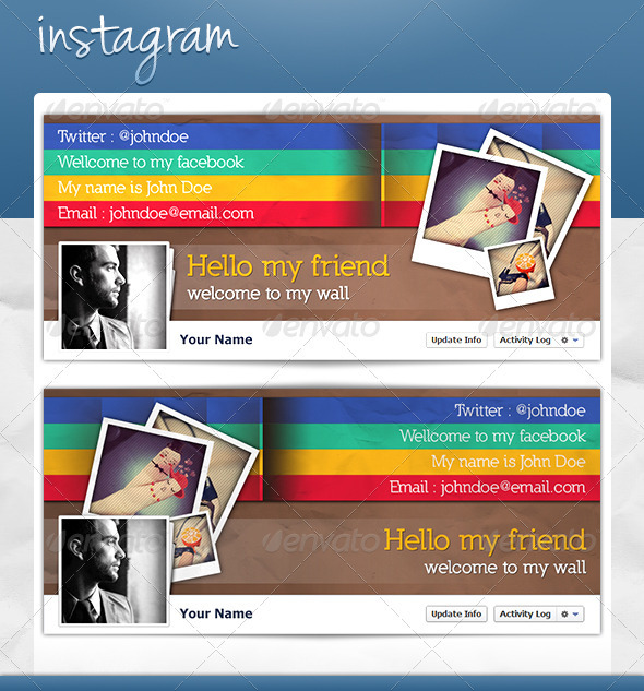FB Cover - Instagram - Facebook Timeline Covers Social Media