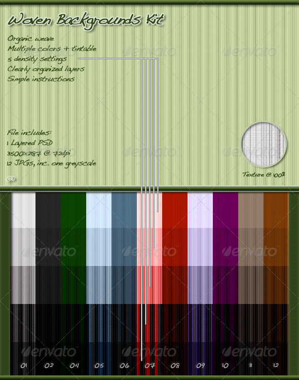 GraphicRiver Woven Backgrounds Kit 3835490