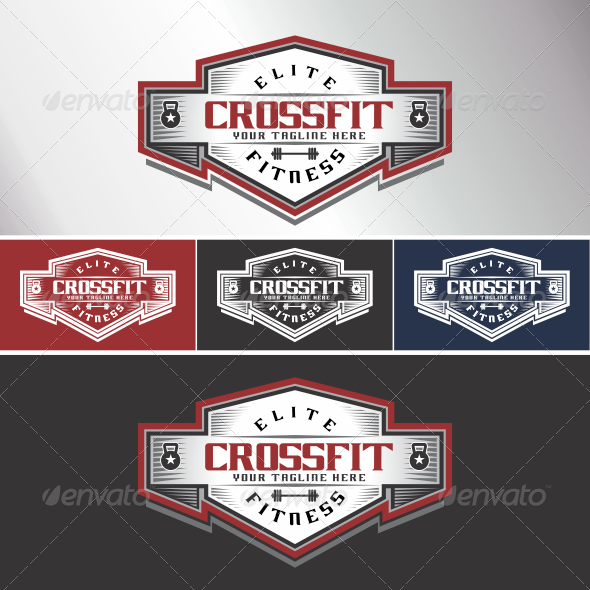 Crossfit Logo - Crests Logo Templates