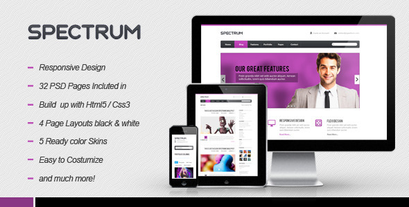 Spectrum Responsive HTML5 Template - Creative Site Templates