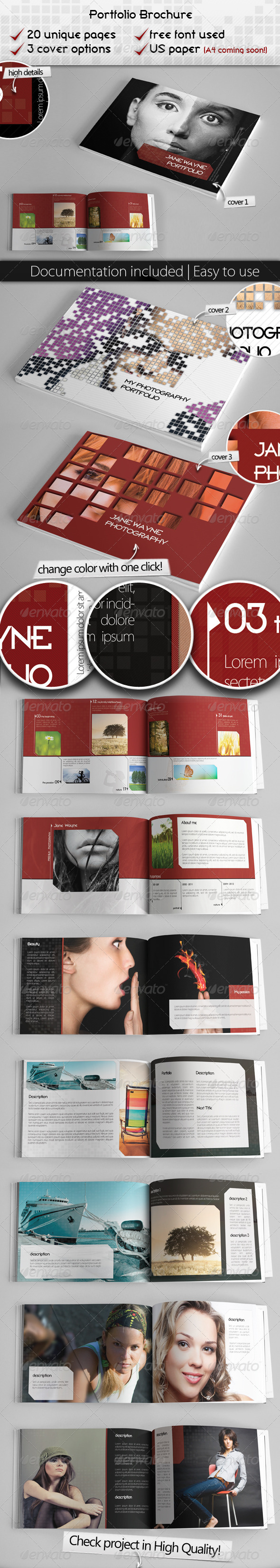 GraphicRiver Portfolio Brochure Project 3766267