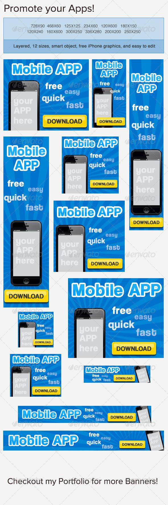GraphicRiver Mobile App Banner Ad 3769558