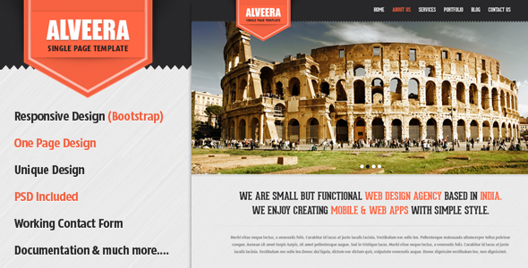 ThemeForest Alveera Responsive HTML5 Single Page Template 3824923