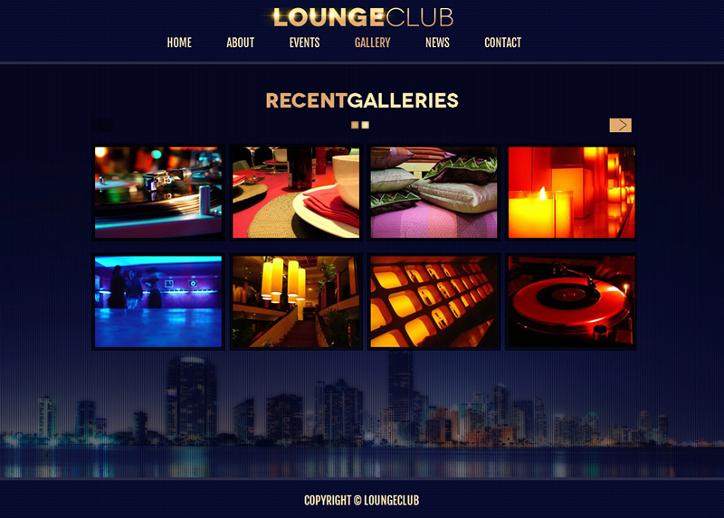 Lounge Club - HTML5 Responsive Site Template