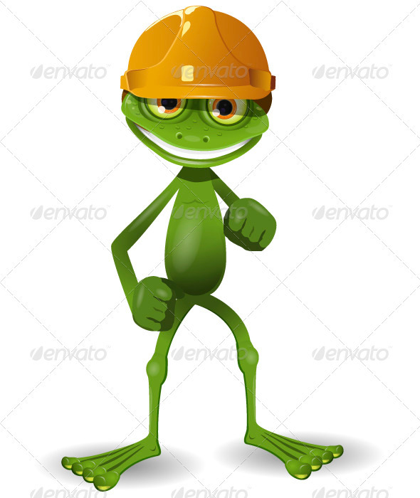 GraphicRiver Frog in a Helmet 3839579