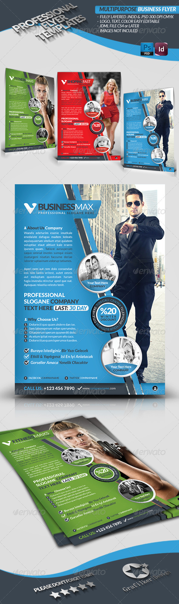 GraphicRiver Multipurpose Business Flyer 3840029