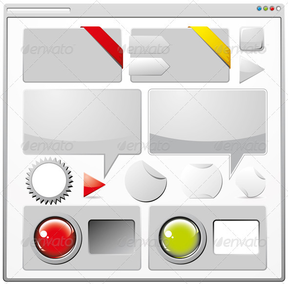 GraphicRiver Collection of Colored Web Elements 3840038