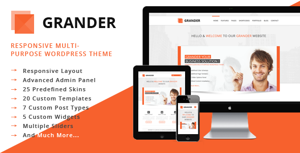 ThemeForest GRANDER Responsive Multipurpose WordPress Theme 3808774