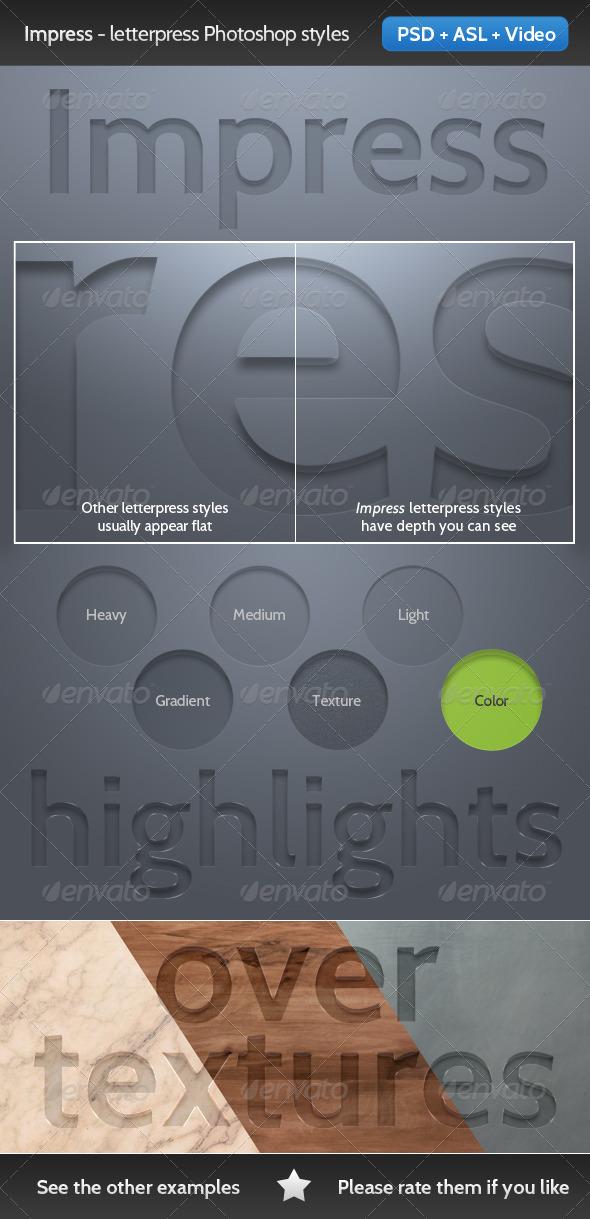 GraphicRiver Impress Letterpress Photoshop Text Style 3768297