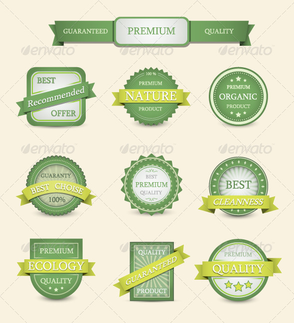 GraphicRiver Nature Labels 3840485