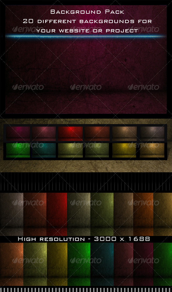 GraphicRiver Background Pack 3841174