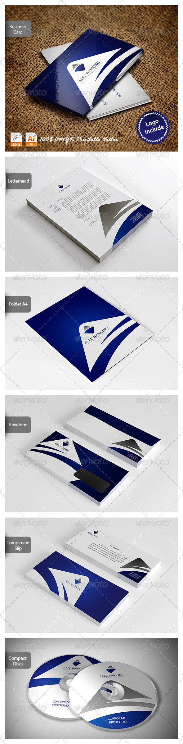 Corporate Identity - Alec Banking - Stationery Print Templates