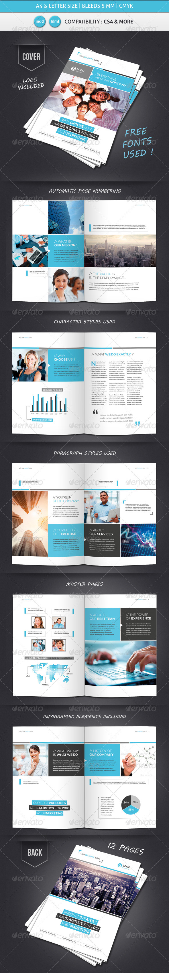 GraphicRiver Business Brochure Template A4 & Letter 12 Pages 3841482