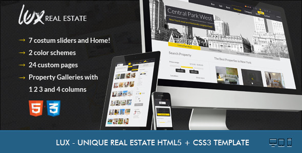 ThemeForest Lux Huge and Unique Real Estate HTML 3841810