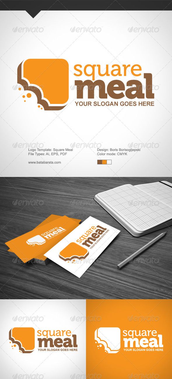 Square Meal Logo - Objects Logo Templates