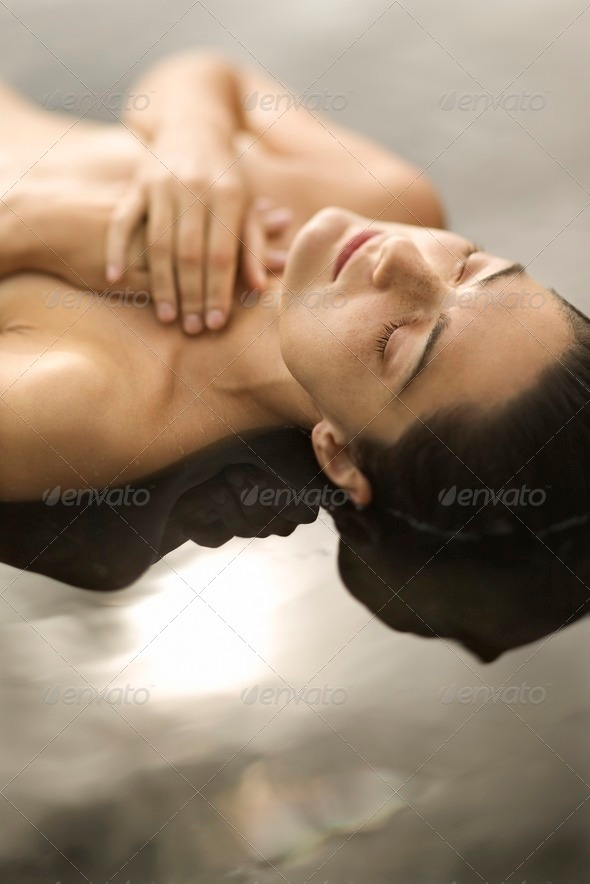 Woman in water - Stock Photo - Images