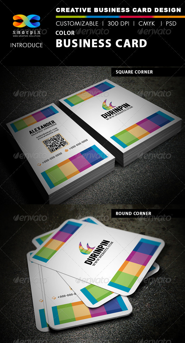 GraphicRiver Color Business Card 3843757