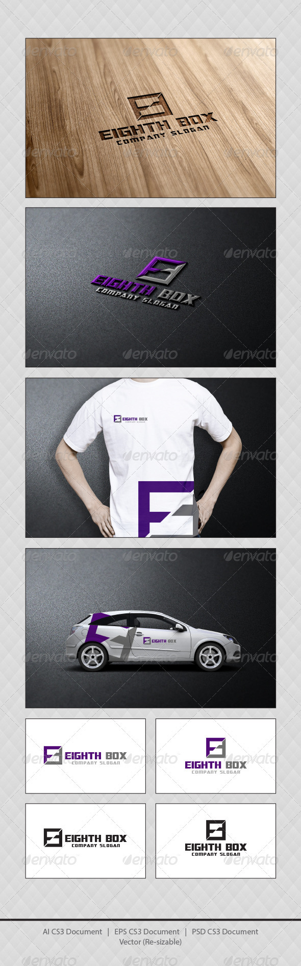 GraphicRiver Eighth Box Logo Template 3844031