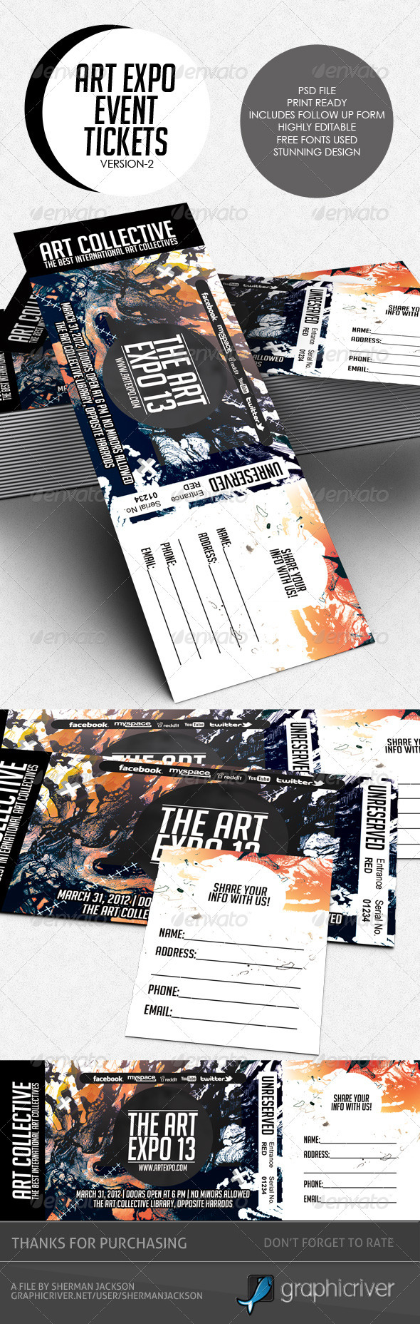 GraphicRiver Art Expo Art Show Event Tickets & Passes V.2 3844208