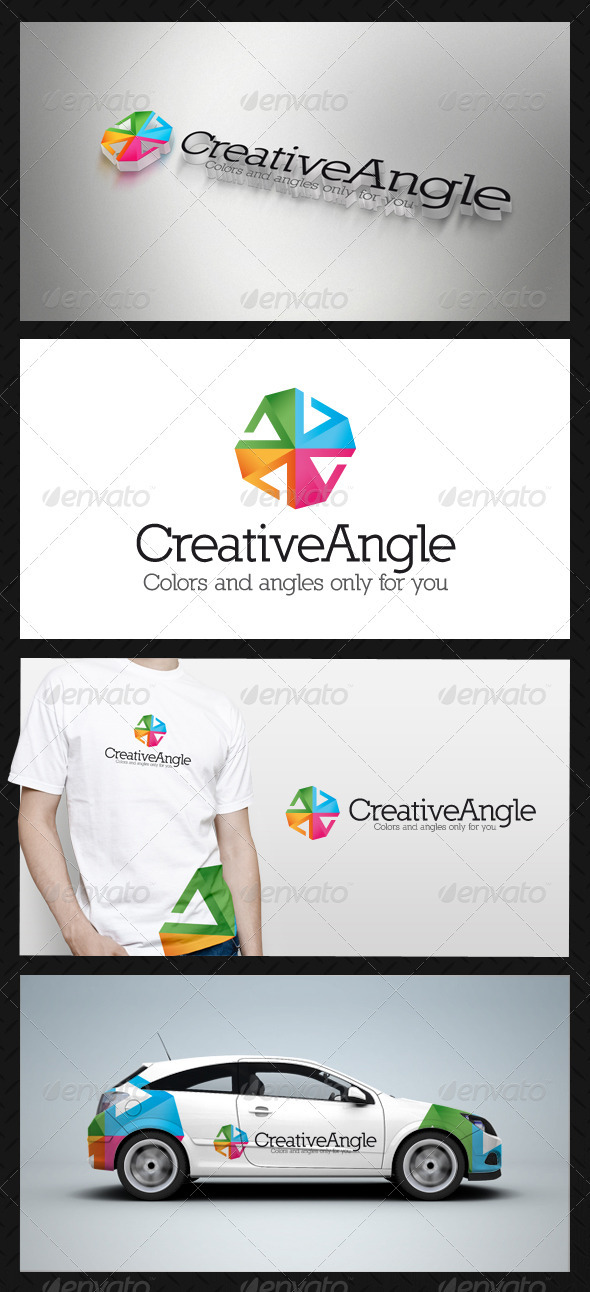 GraphicRiver Creative Angle Logo Template 3738764