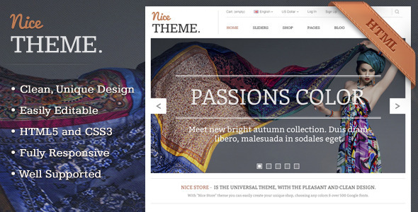 ThemeForest Nicetheme Unique Multipurpose Html Template 3846032