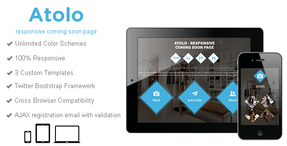 Atolo - Responsive Coming Soon Page - Under Construction Specialty Pages