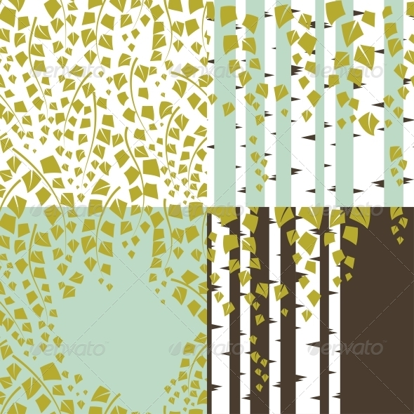 GraphicRiver Patterns and Backgrounds of Green Trees 3846122